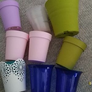 Plastic pots with liners new